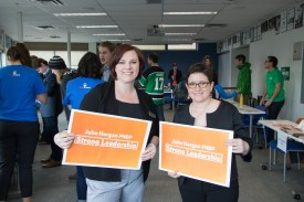 BC NDP Candidates Barb Nederpel and Nancy Bepple