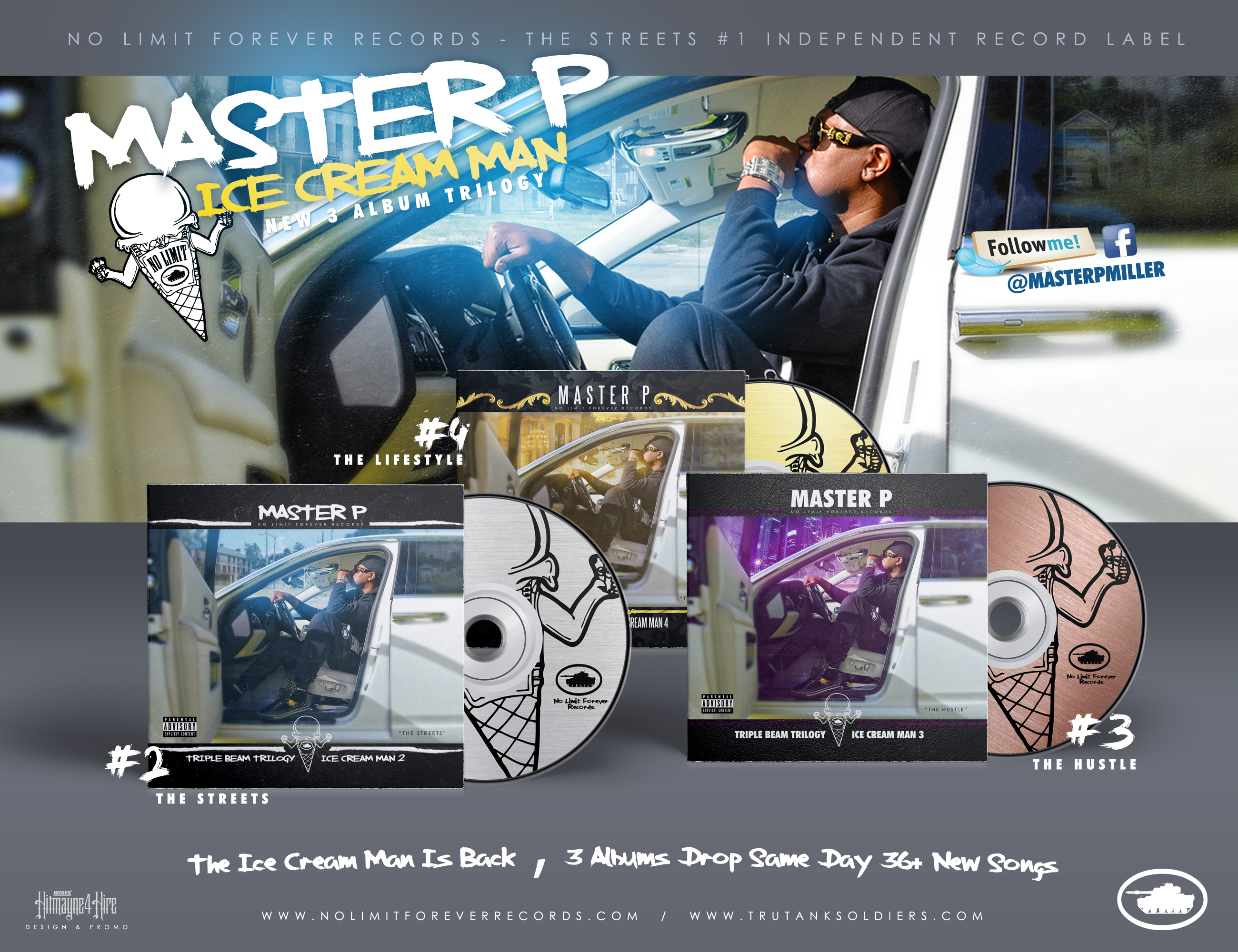 "Master P Announces New 3 Album ""ICE CREAM MAN"" Trilogy, Cover Art Leak and Much More."