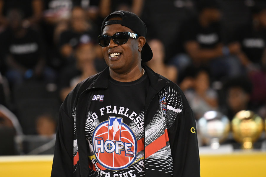 NEW ORLEANS, LA - JUNE 29: Rapper Master P at 2017 Essence Festival - Celebrity Charity Basketball Game at Xavier University Convocation Center on June 29, 2017 in New Orleans, Louisiana. (Photo by Paras Griffin/Getty Images)