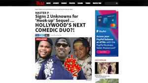 MASTER P SIGNS FATBOY SSE AND PIOLA HOLLYWOOD'S NEXT COMEDIC DUO TO 'I GOT THE HOOK UP 2' MOVIE