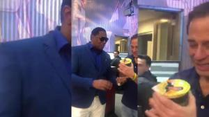 MASTER P INTRODUCES RAP SNACKS RAP NOODLES TO HARVEY LEVIN AT TMZ
