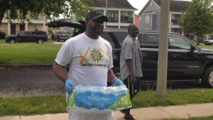 MASTER CLEAN LIFE COMPANY HELPS THE ELDERLY IN THE COMMUNITY WITH GROCERIES THROUGH THESE UNCERTAIN TIMES