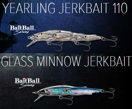 LiveTarget Lures - Yearling jerkbait - Glass Minnow jerkbait