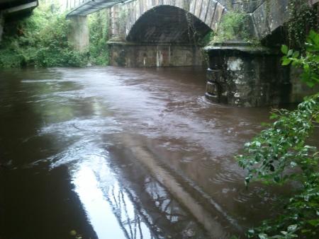 Ponte romana Rio Âncora chuvas fortes Setembro 2014