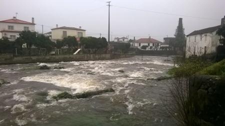 Ribeira de Portuzelo - cheia Fevereiro 2016