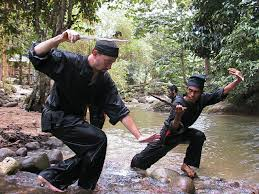 He was studying an art called silat, a traditional Malaysian martial art that is based on the teachings of Islam