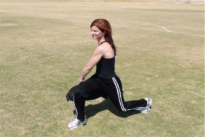 sandbag workouts - rotational lunge