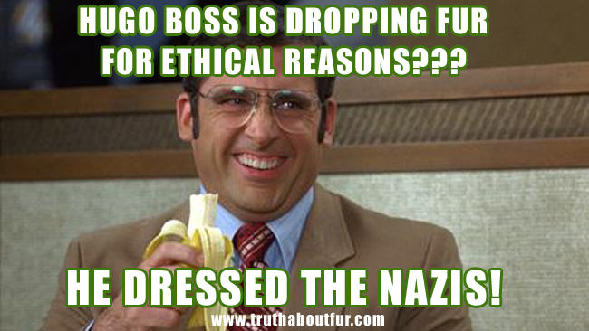animal rights, fur, hugo boss, nazi