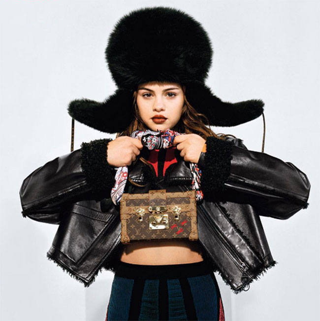 fur news, fur fashion, louis vuitton, selena gomez, trapper hat, fur