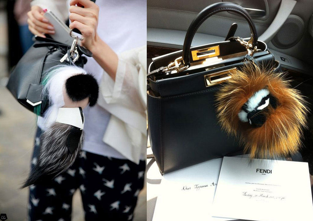 Fendi Karlito is a popular bag charm
