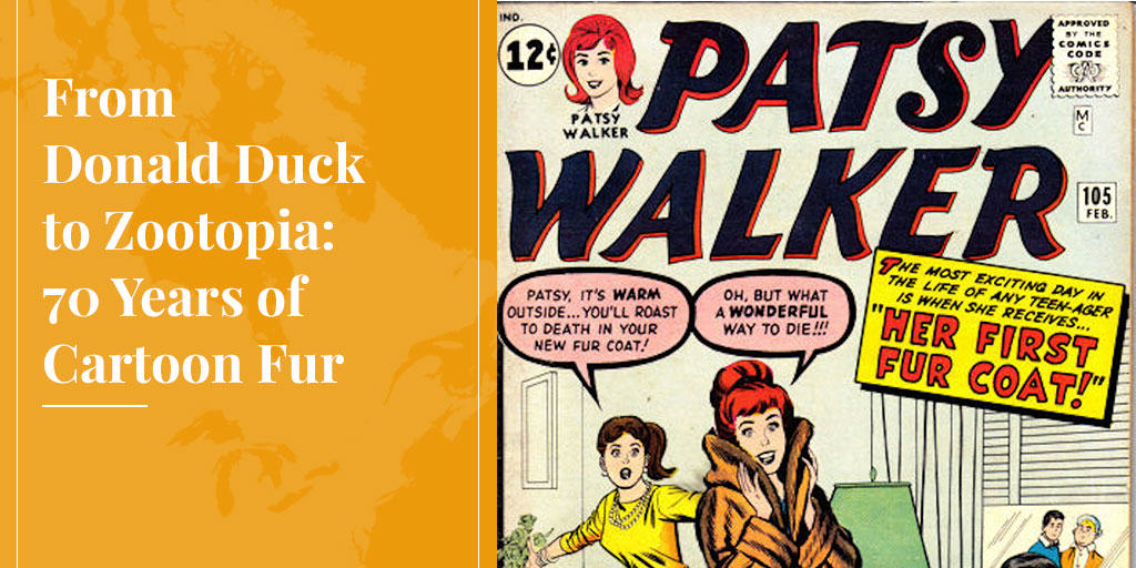 Patsy Walker in cartoon fur