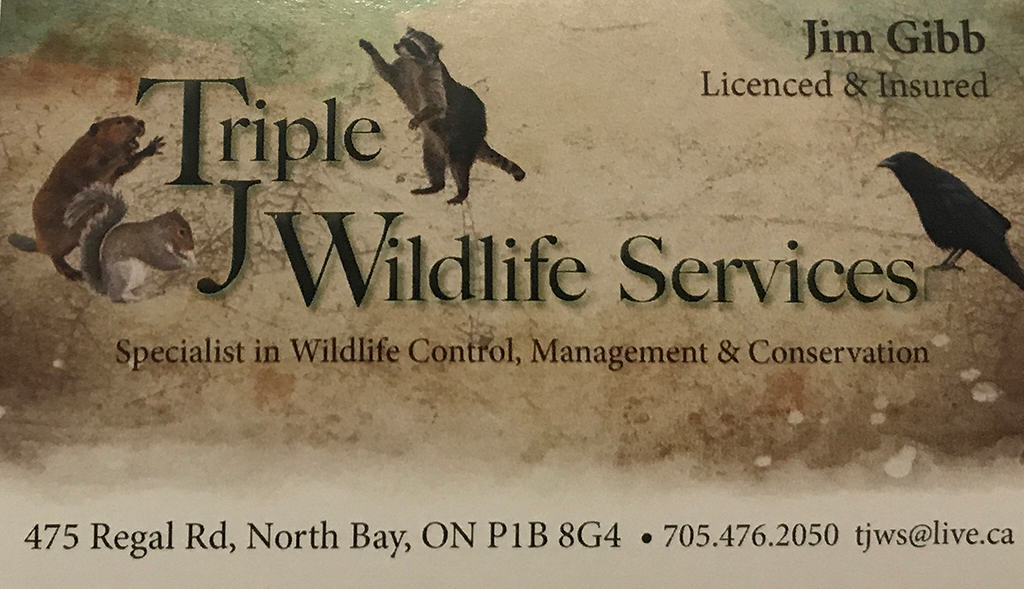 certified trapper has business card and insurance