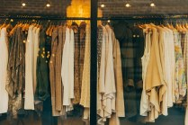 clothes in shop display