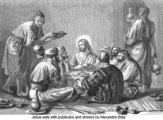 Jesus dinner with sinners