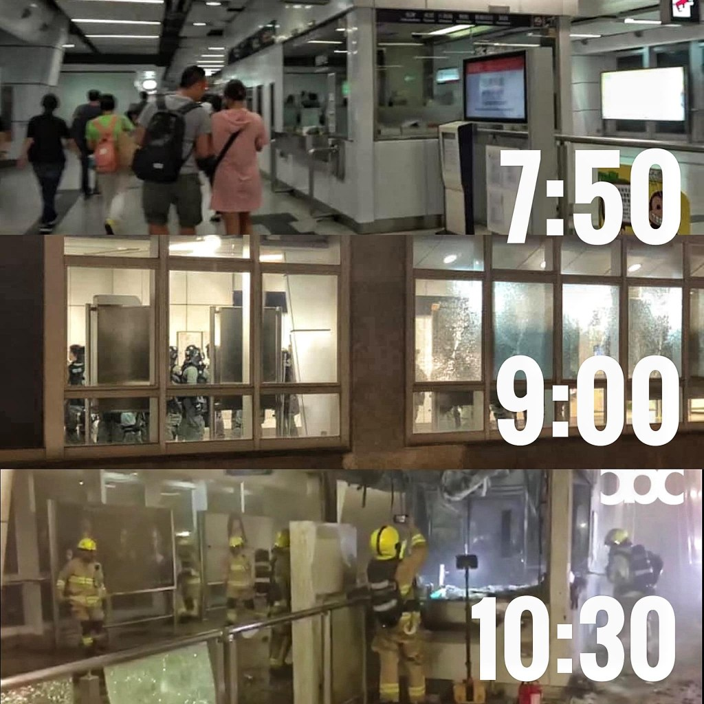 Analysis of fire at Kwun Tong MTR station: