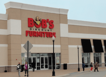 State Officials Investigate Bob s Discount Furniture after TINA org     Screenshot of a photo of a Bob s Discount Furniture store taken from  mybobs com