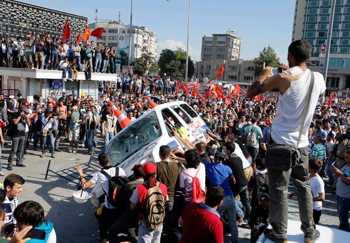 turkish police brutally v