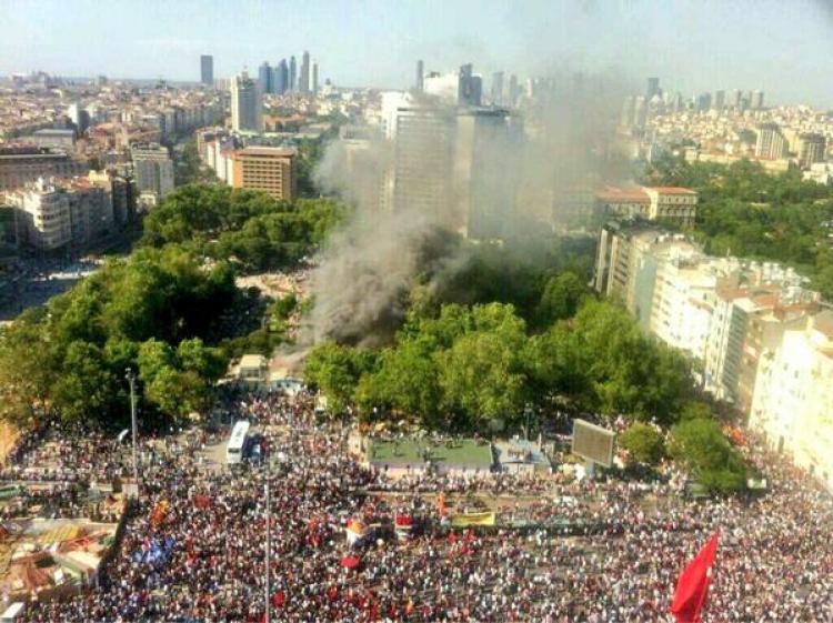 turkish police brutally
