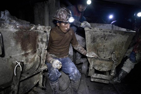 Bolivian children miners