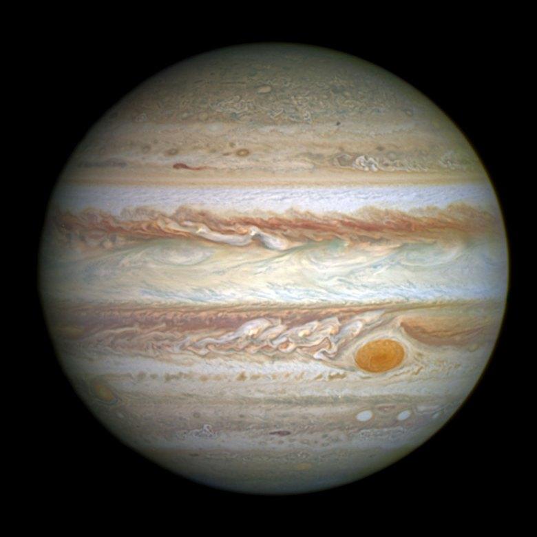 Jupiter and its shrunken Great Red Spot
