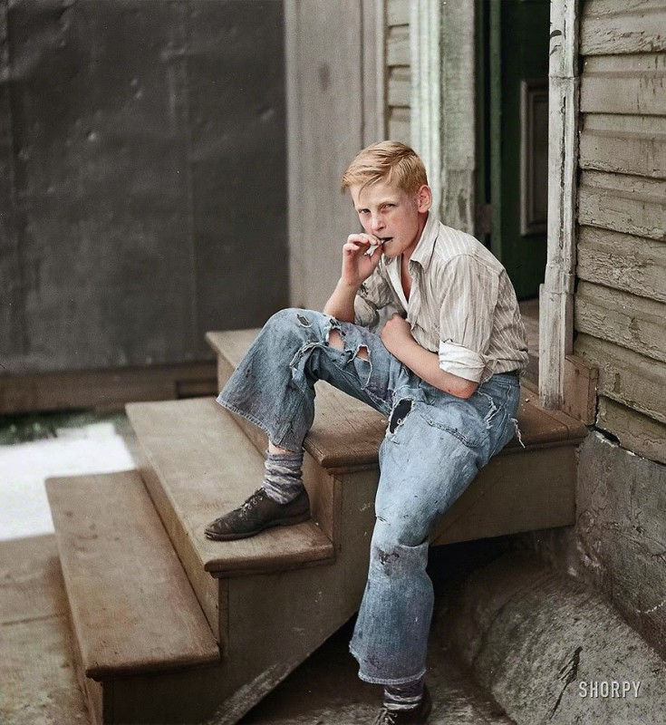 Young boy in Baltimore, July 1938