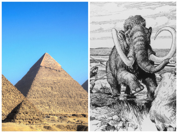 pyramids and mamooths