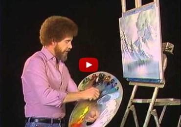 Bob Ross Color Blind Art
