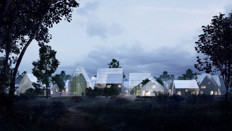 The neighborhood that will produce its own food, energy and will recycle waste. (3)