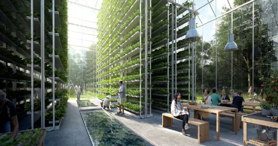 The neighborhood that will produce its own food, energy and will recycle waste.