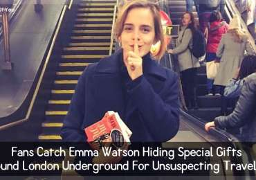 Fans Catch Emma Watson Hiding Special Gifts Around London Underground For Unsuspecting Travelers.