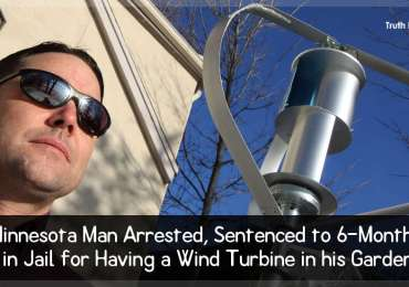 Minnesota Man Arrested, Sentenced to 6-Months in Jail for Having a Wind Turbine in his Garden
