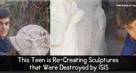 This Teen is Re-Creating Sculptures that Were Destroyed by ISIS
