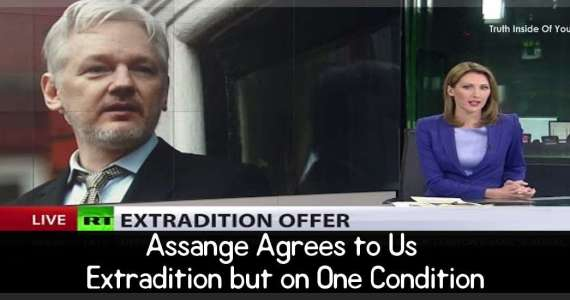 Assange Agrees to Us Extradition but on One Condition