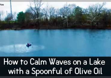 How to Calm Waves on a Lake with a Spoonful of Olive Oil