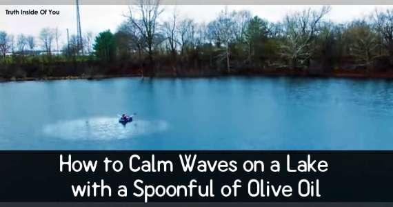 Calm Waves Lake Oil