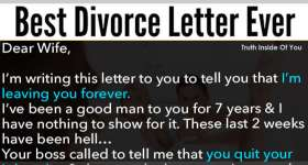 best divorce letter