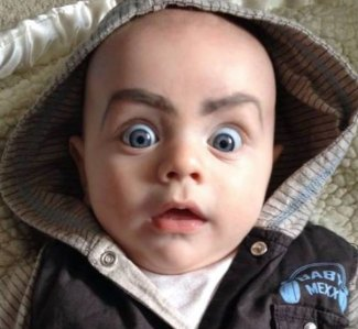 Drew Eyebrows On My Kid, Was Not Dissapointed