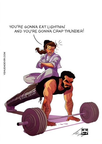 My wife's concept of working out together