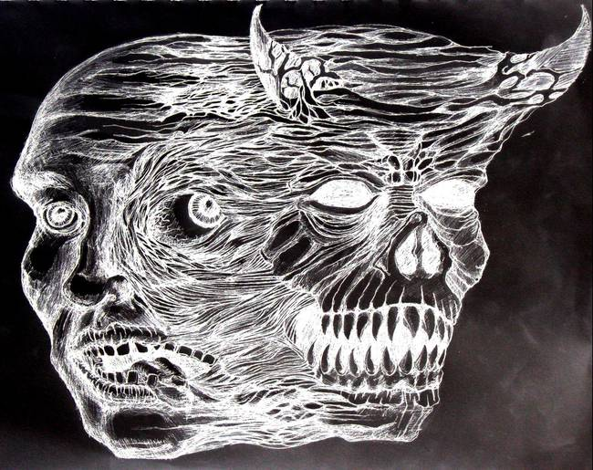 nefarious depiction of the affliction by Erik Baumann