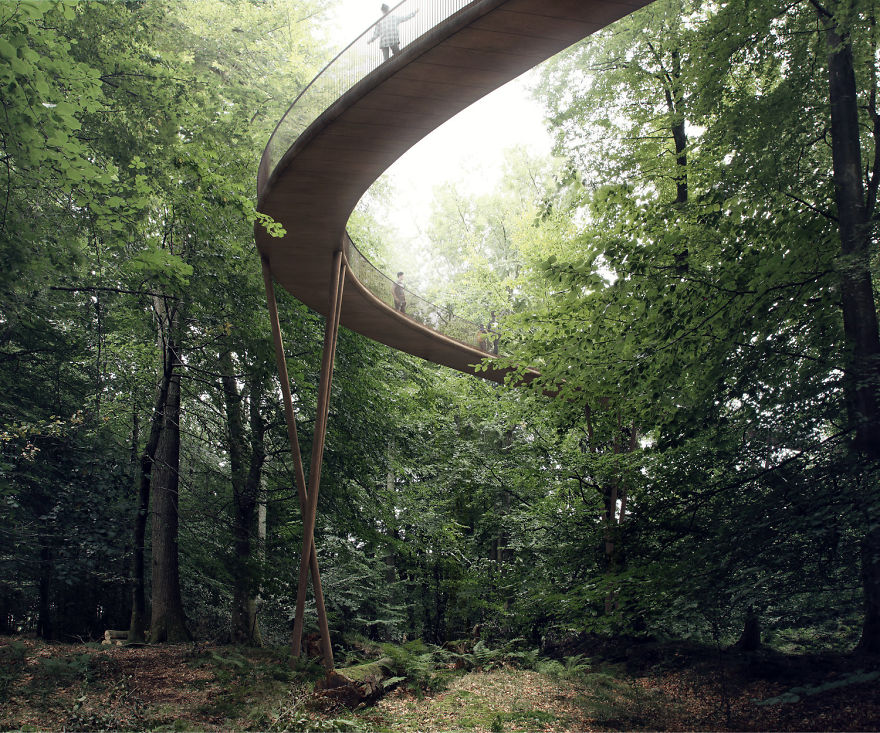 Circular Staircase Over The Danish Forest Offer a Great Experience.5