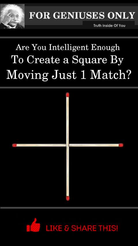 move only one match to make a square