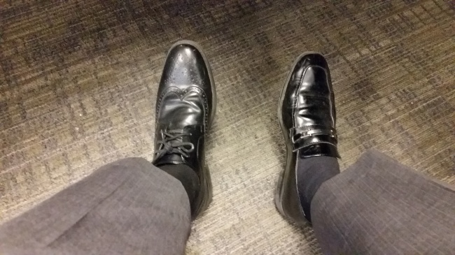 10. When you need coffee even more because now you can't tell your shoes apart.