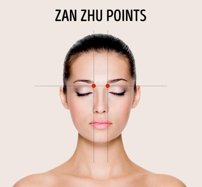 zan zhu points