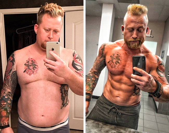 4. This man decided to up the ante, as he transformed himself from flab to abs. An Instagram model now, his dedication is praiseworthy.
