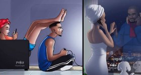 An Illustrator From Ghana Creates Pictures That Anyone in a Relationship Will Understand