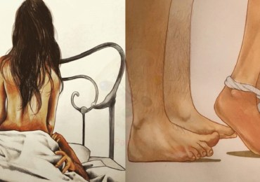 Female Artist Illustrated Intimate Scenes Of Love Making Couples.