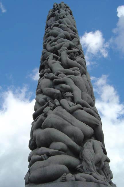 14. Vigeland Sculpture Park, Oslo Norway.