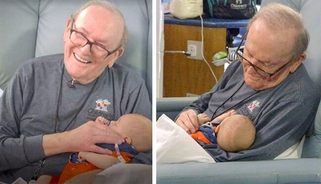 16. For 12 years, that retired man from Atlanta has been cuddling babies in intensive care.