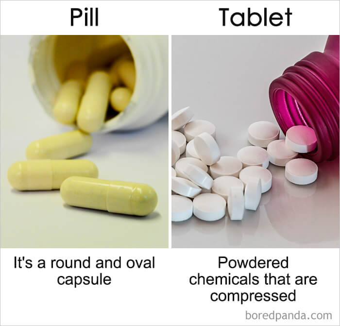 14. Pill vs Tablet