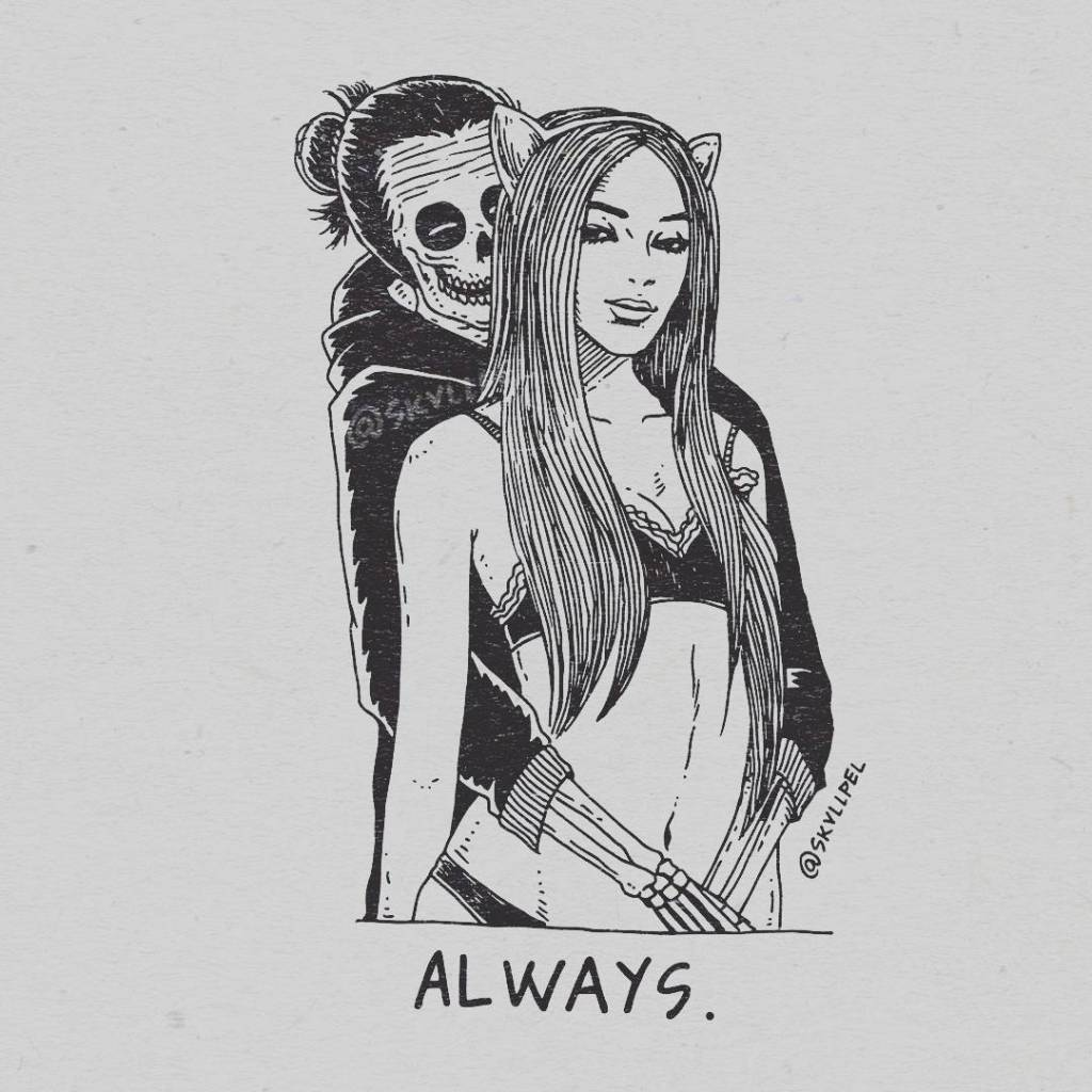 Artist's Skeletal Illustrations Show The Glimpse Of Intense Love With Beautiful Messages-10